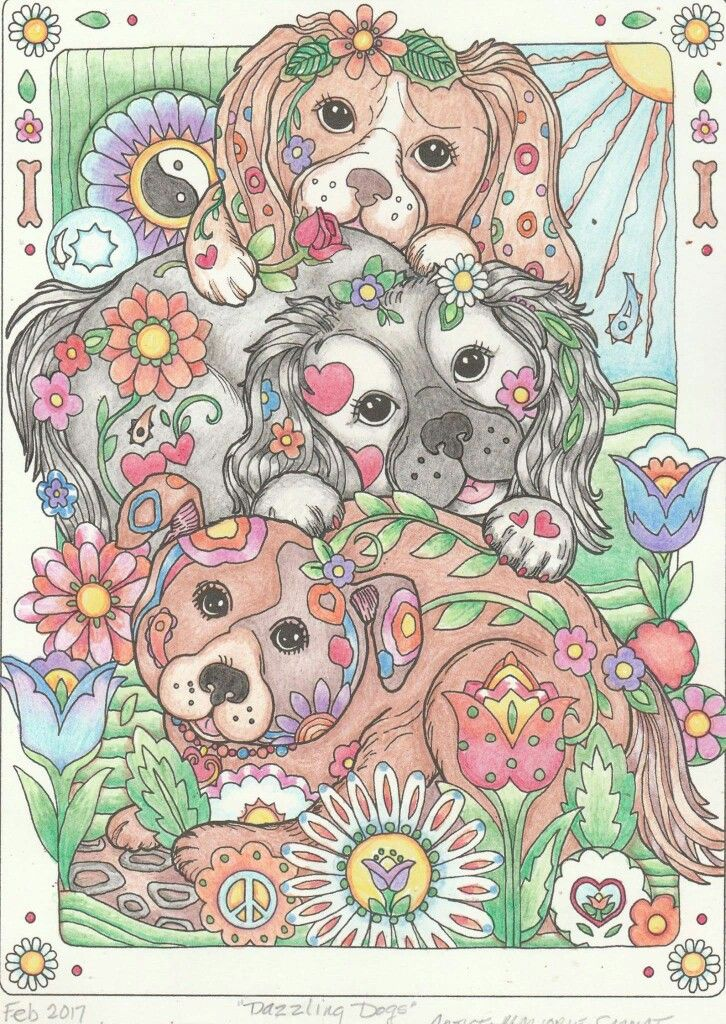 36 Best Images About Coloring Dazzling Dogs On Pinterest