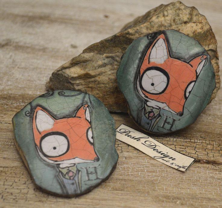 Brosa lemn ''Mister Fox''