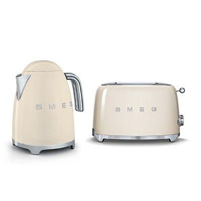 Smeg Kettle/ Toaster pack TSF01CRKIT - Cream