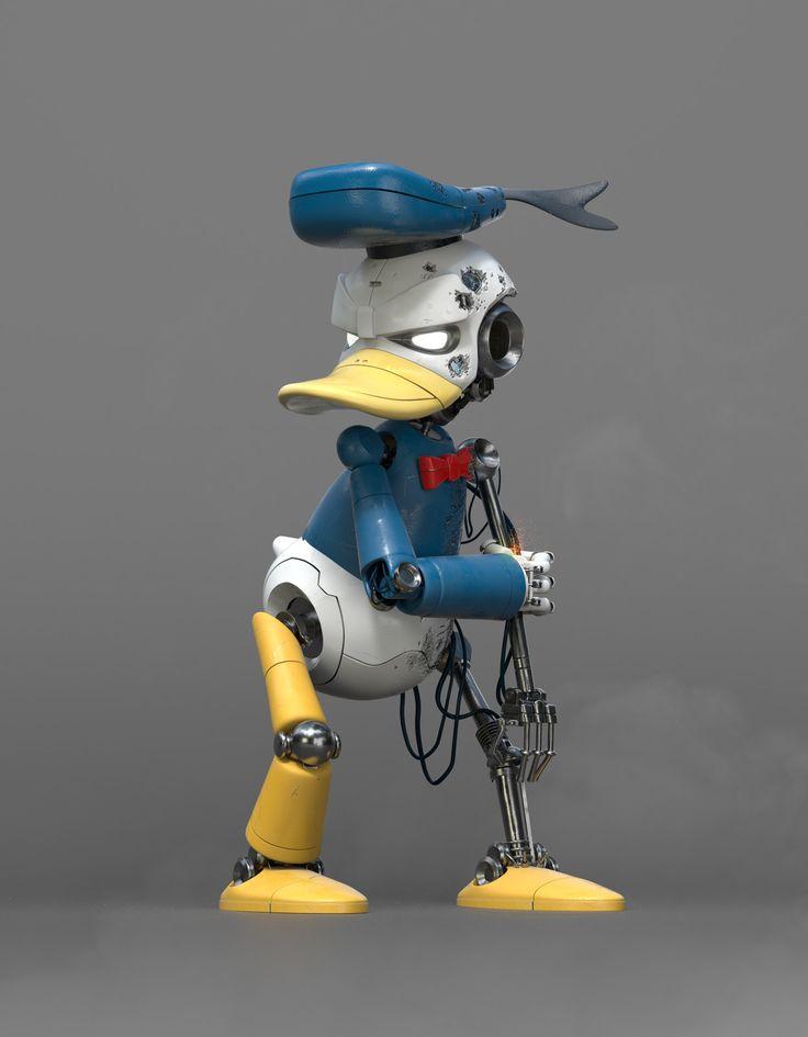 Cyber Donald, Felipe Ferreira on ArtStation at https://www.artstation.com/artwork/olVez