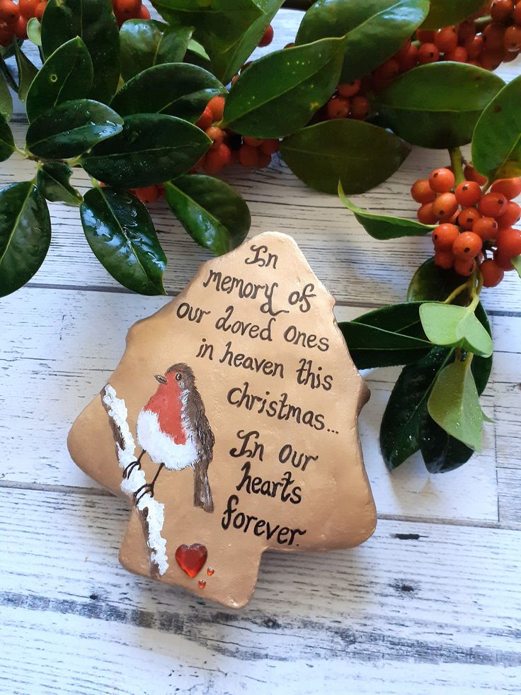 Christmas memorial stone The British Craft House in 2020