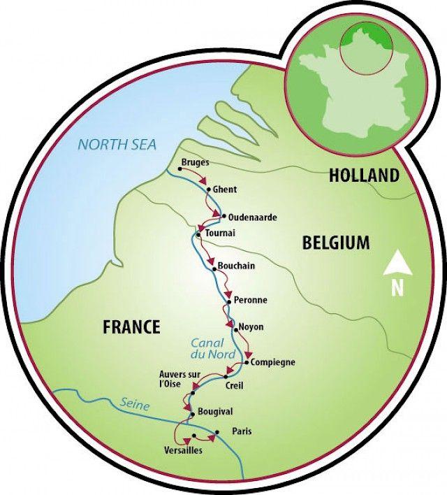 Bruges France Map.Bruges To Paris Or Paris To Bruges Map Cycling Route Maps Bruges