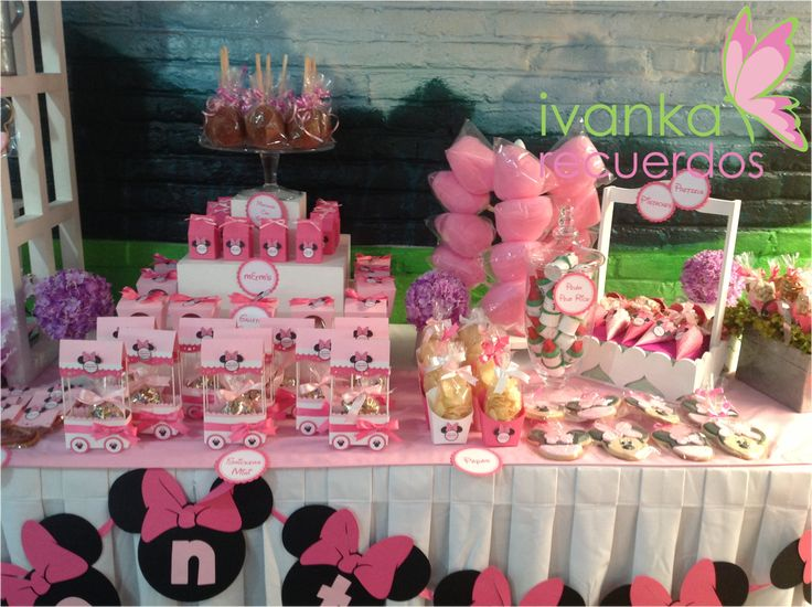 Minnie Mouse Candy Bar Party Planning For Layla