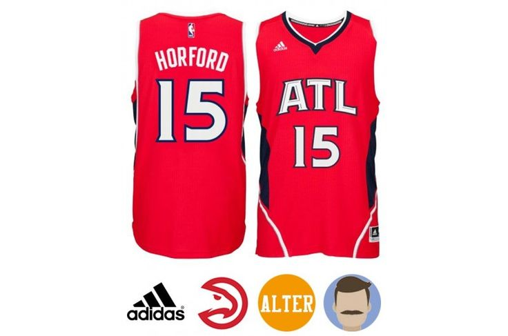 Have a line of thinking to make the tough decision of which NBA player you support. Just coincide with your heart. If Al Horford is a lighthouse in your spirit world, Show off your appreciation with this Men's Adidas Atlanta Hawks #15 Al Horford Red New Swingman Alternate Alternate Jersey. Wearing t