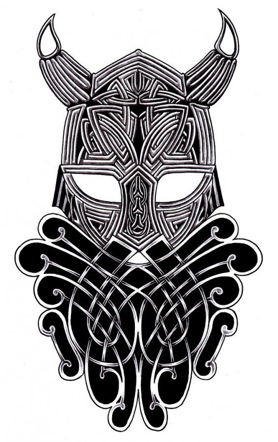 tribal viking warrior amazing tattoo flash tattoos pinterest norse tattoo helmets and nice. Black Bedroom Furniture Sets. Home Design Ideas