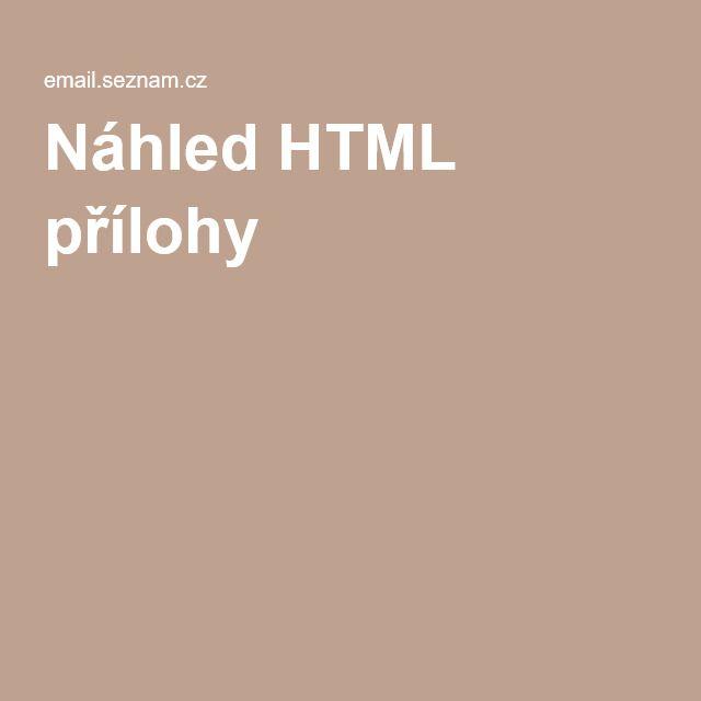Náhled HTML přílohy