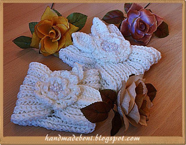 HandmadeBoni: Kremowe opaski z kwiatami. Zrób razem ze mną :-)