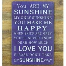 Emaljeskilt You are my sunshine - NiceWall.dk