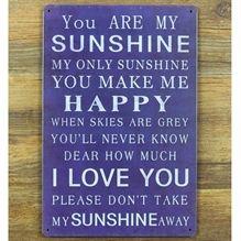 Emaljeskilt You are my sunshine - NiceWall.dk