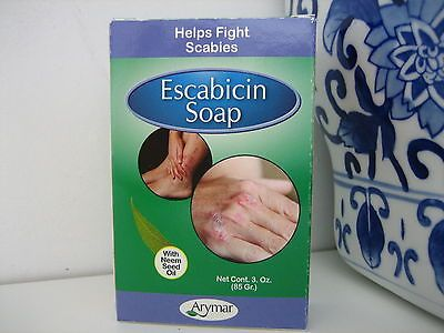 Sulfur Soap ESCABICIN ARYMAR Neem Oil Scabies, Acne, Antibiotic, Antiparasite