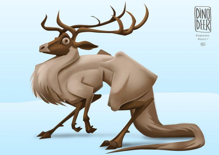 Dino Deer, Hunor Fogarasi on ArtStation at https://www.artstation.com/artwork/Jrqym
