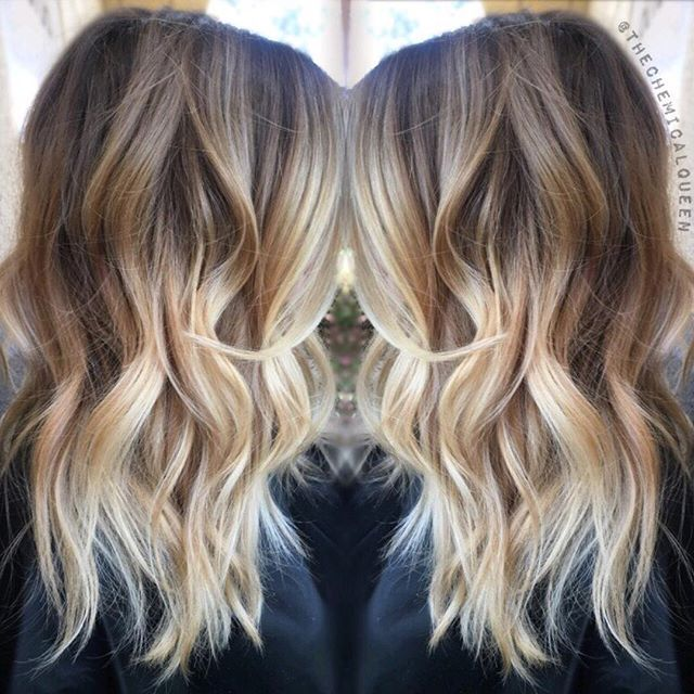 Ombre brown to blonde shoulder length trendy hairstyles in the usa ombre brown to blonde shoulder length urmus Choice Image