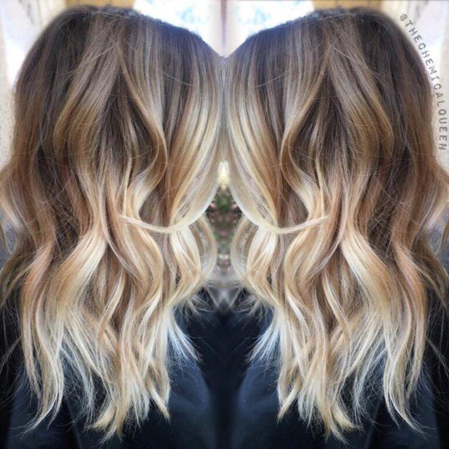 Ombre brown to blonde shoulder length trendy hairstyles in the usa ombre brown to blonde shoulder length urmus Gallery