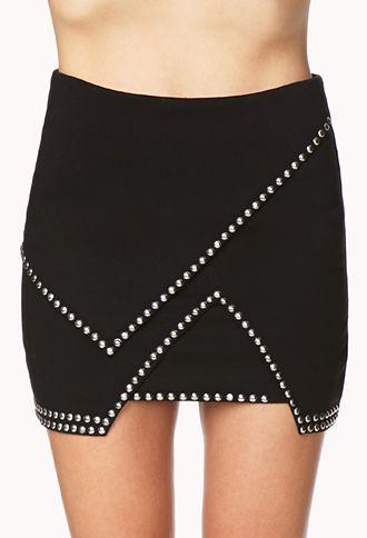 Total Stud Mini Skirt   FOREVER 21 - 2000064379