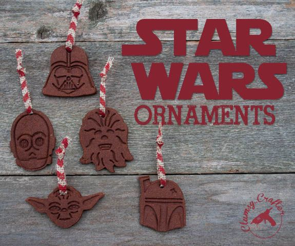 Ahhhhhh, how great are these? Easy Cinnamon Ornaments - Make your own Star Wars ornaments.