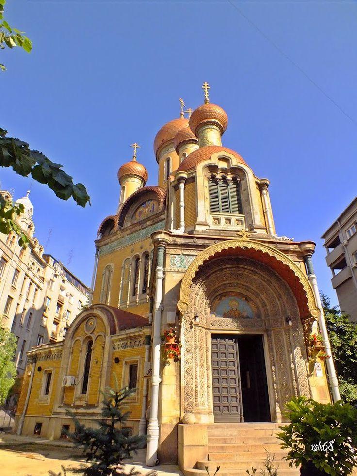 Bbiserica Sf. Nicolae (Paraclis universitar) cunoscuta si ca Biserica Rusa din Bucuresti St. Nicholas Church from Bucharest, knowed like Russian Church