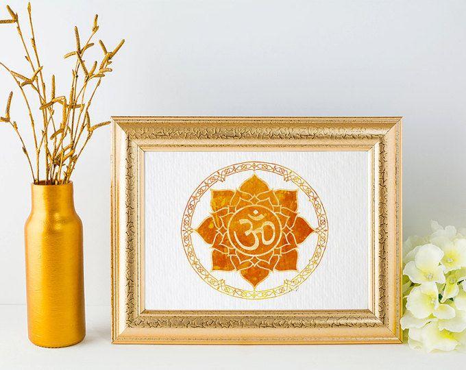 Mandala Print Om Symbol Mandala Wall Art Yoga Art Hindu Decor Minimal Wall Art Zen Home Decor New Age Art Geometric Print {21}
