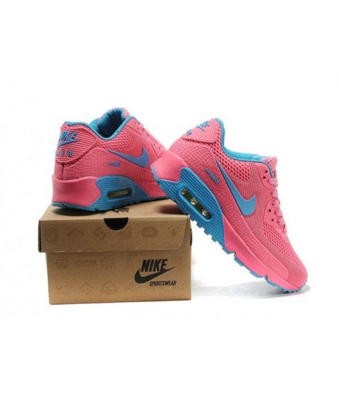 76653c7f13 Womens Nike Air Max 90 Hyp Kpu Tpu Pink Blue 6809331-671 | tenis ...