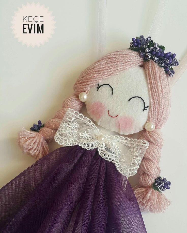 Prenses bebek/kapı süsü  Keçe Evim