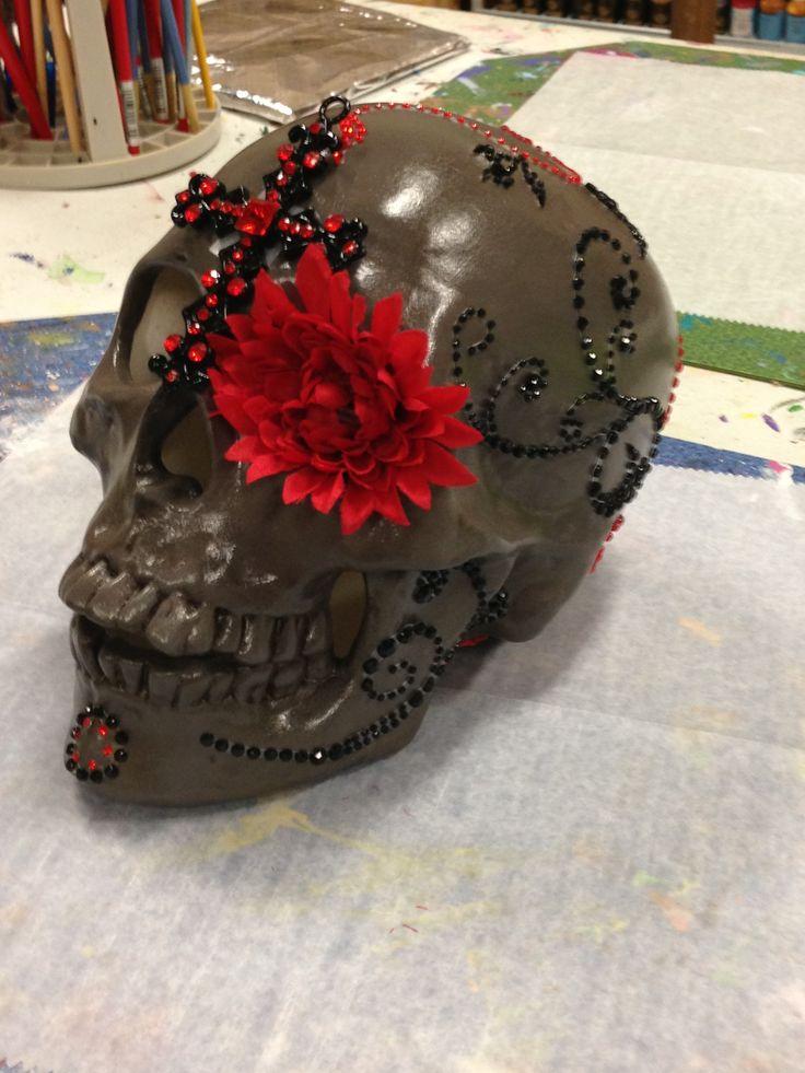 My newest sugar skull!!