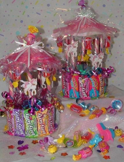 TOTALLY a FUN Idea!!!! Candy CAROUSEL CARNIVAL Theme A hand crafted item by CandyFlorist, $9.95