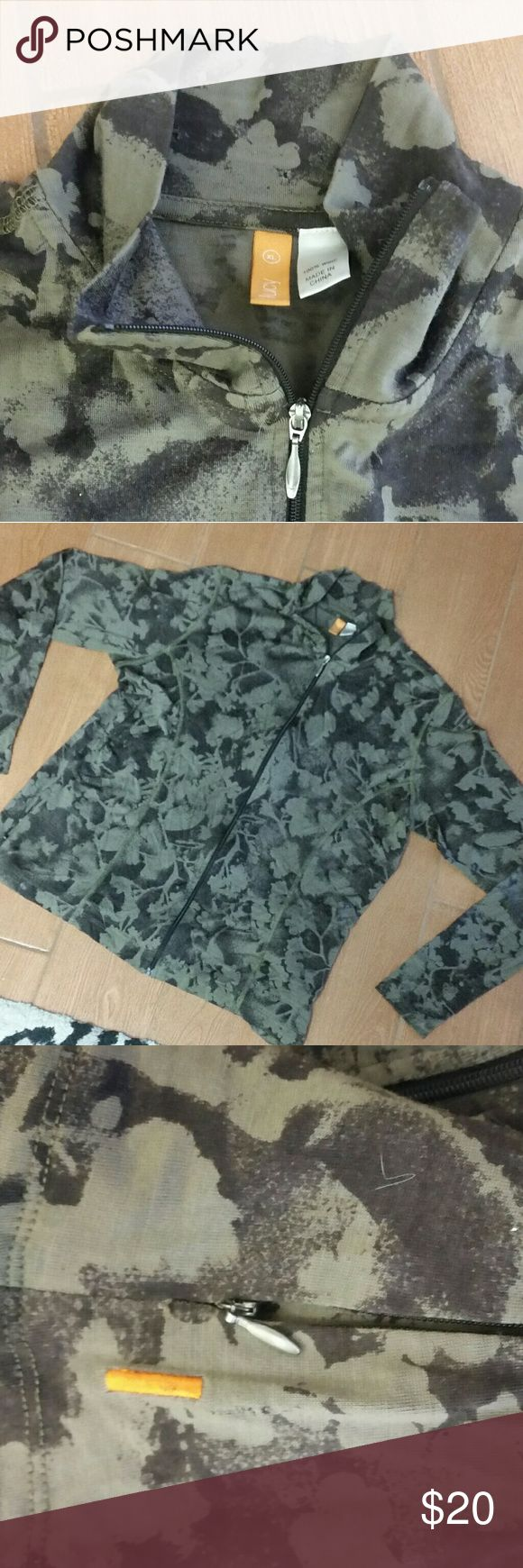 Lucy Athletic Wear 100% Wool Jacket size XL Lucy Athletic Wear 100% Wool Jacket size XL, Camouflage syle print lucy Jackets & Coats