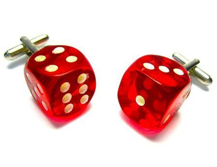 Red Glow In The Dark Dice Cufflinks CuffCrazy. $29.99. Money Back if not 100% Satisfied!. Hand Made in the USA!. Free Gift Box Included!