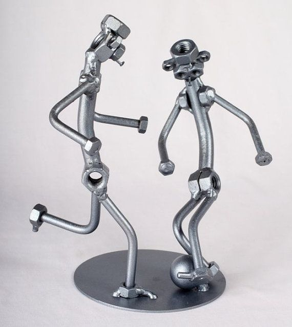 Voetballers  MetalDiorama Metal Art Sculpture