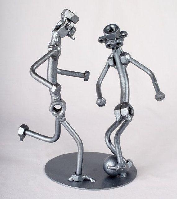 Soccer Players - MetalDiorama Metal Art Sculpture
