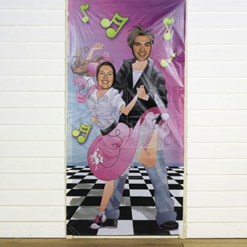 Party Rock N' Roll Couple Sock Hop 50s Grease Photo Photograph Prop Door Banner | eBay