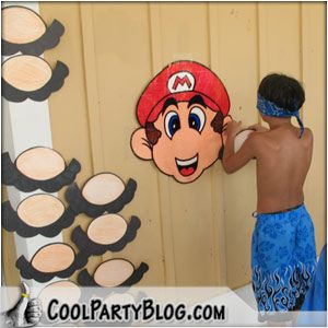 Mario b-day party ideas for Dax's birthday. Maybe pin the crown on Princess Peach.