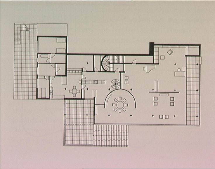 plan drawing of the tugendhat house mies van der rohe. Black Bedroom Furniture Sets. Home Design Ideas