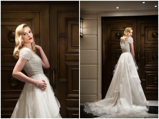 1950s Hollywood Glamour Wedding Inspiration |  Bandele Zuberi Photography