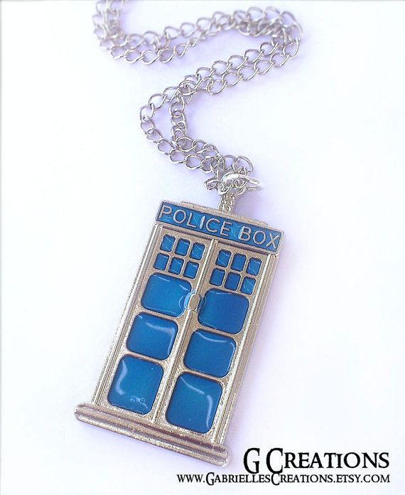 SALE Tardis Necklace  Metal Doctor Who by GabriellesCreations