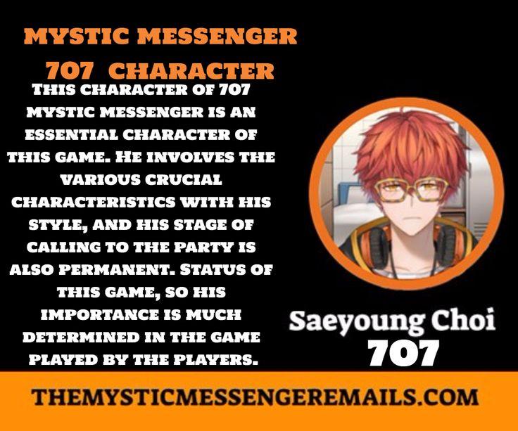 Mystic Messenger 707 character in 2020 Mystic messenger