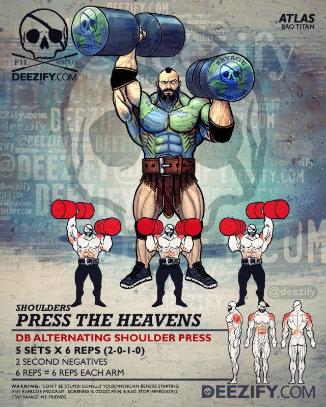 shoulder exercise: shoulder press atlas