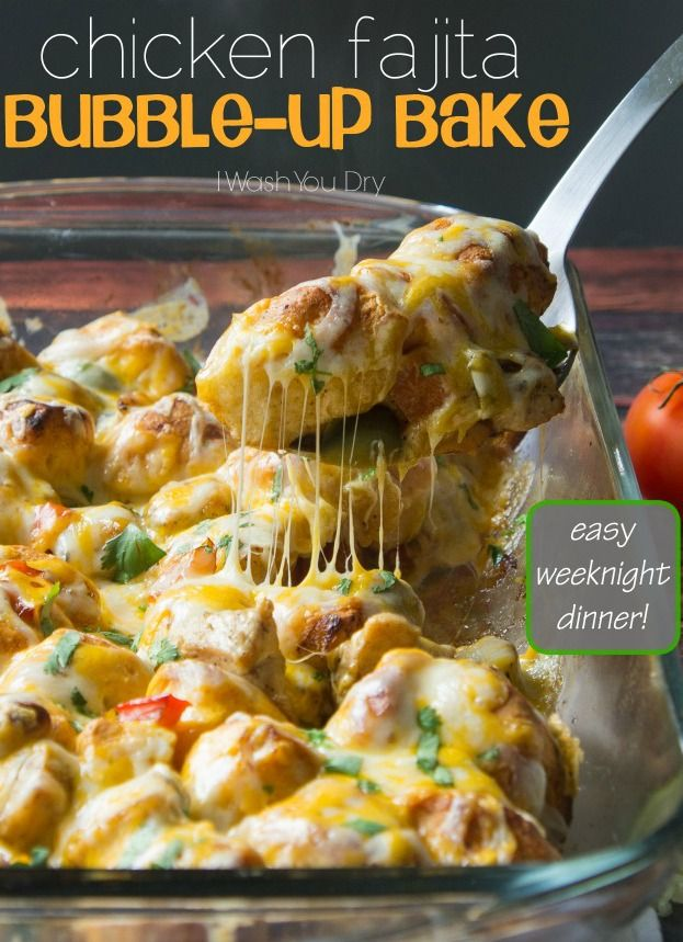 This chicken fajita bubble-up bake is a quick and simple weeknight meal the whole family will enjoy.