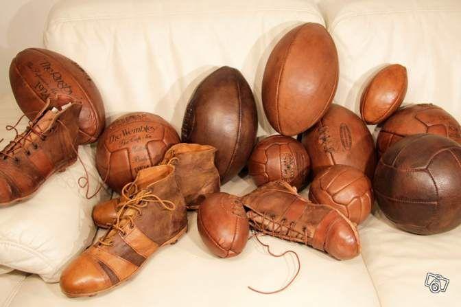 articles de sport vintage d coration cuir ancien. Black Bedroom Furniture Sets. Home Design Ideas