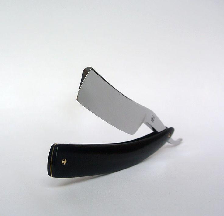 "Custom order: 7/8"" straight razor with ebony scales"