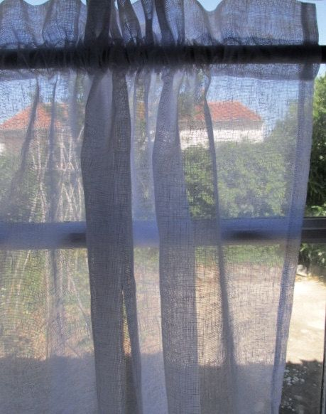 White Linen Curtain Sheer French Linen Window от LinenandLetters