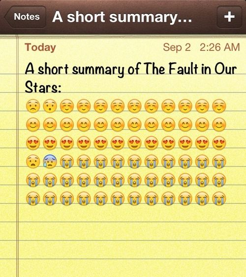 Short summary of The Fault in Our Stars. | The Fault In ...