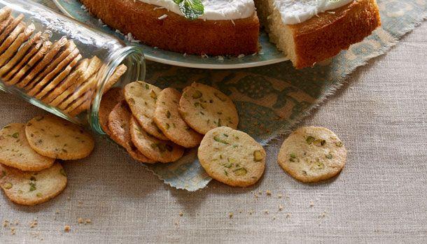 Småkager med pistacie | Sprøde, skønne småkager