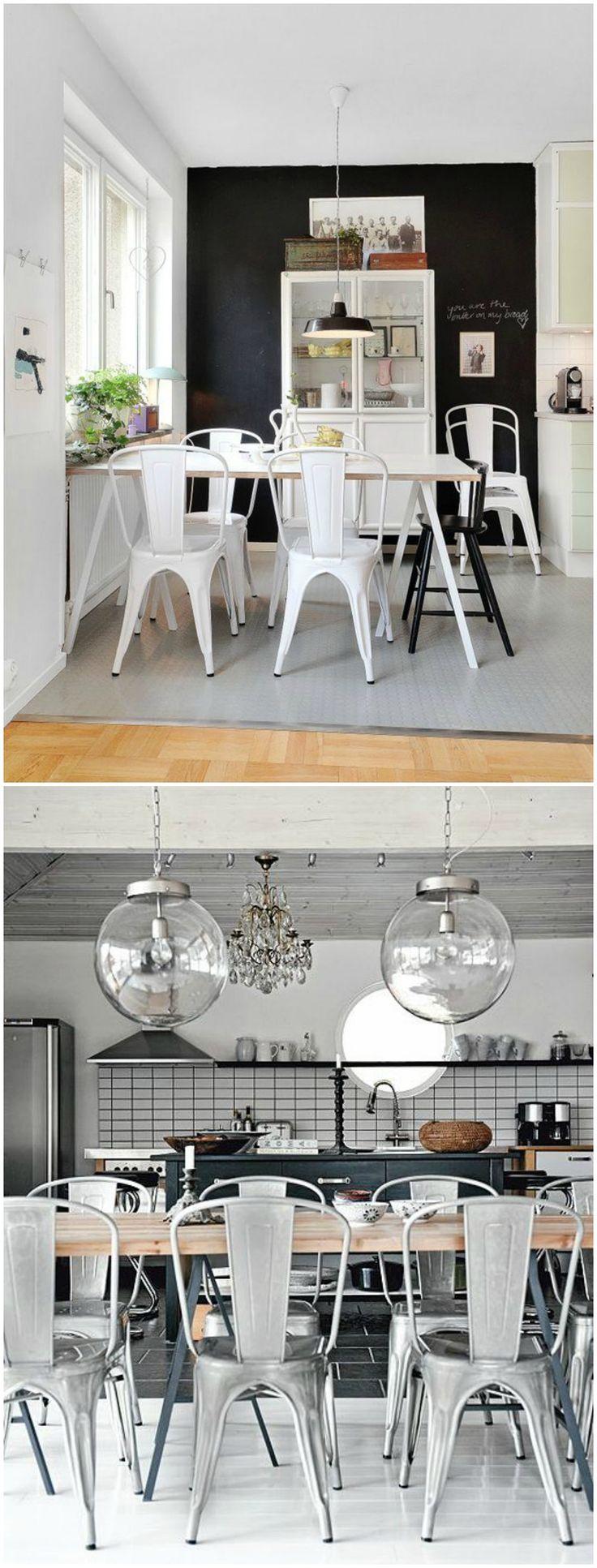 Silla tolix silla de estilo industrial visto en www for Sillas para comedor industrial