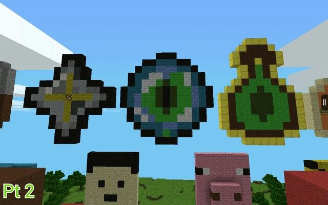 Some of my pixel art Part 2 (Nether Star, Eye of Ender, and Bottle o' Enchanting)