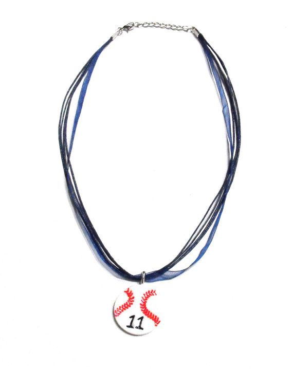 Personalized Baseball Necklace with Players by RockThePepRally, $8.00