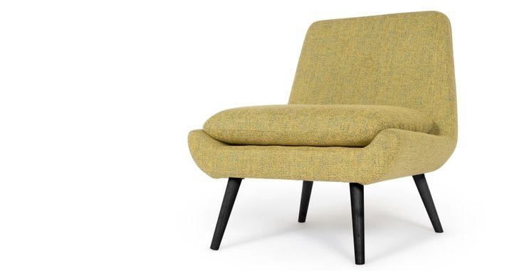 Jonny fauteuil, vintage geel   made.com