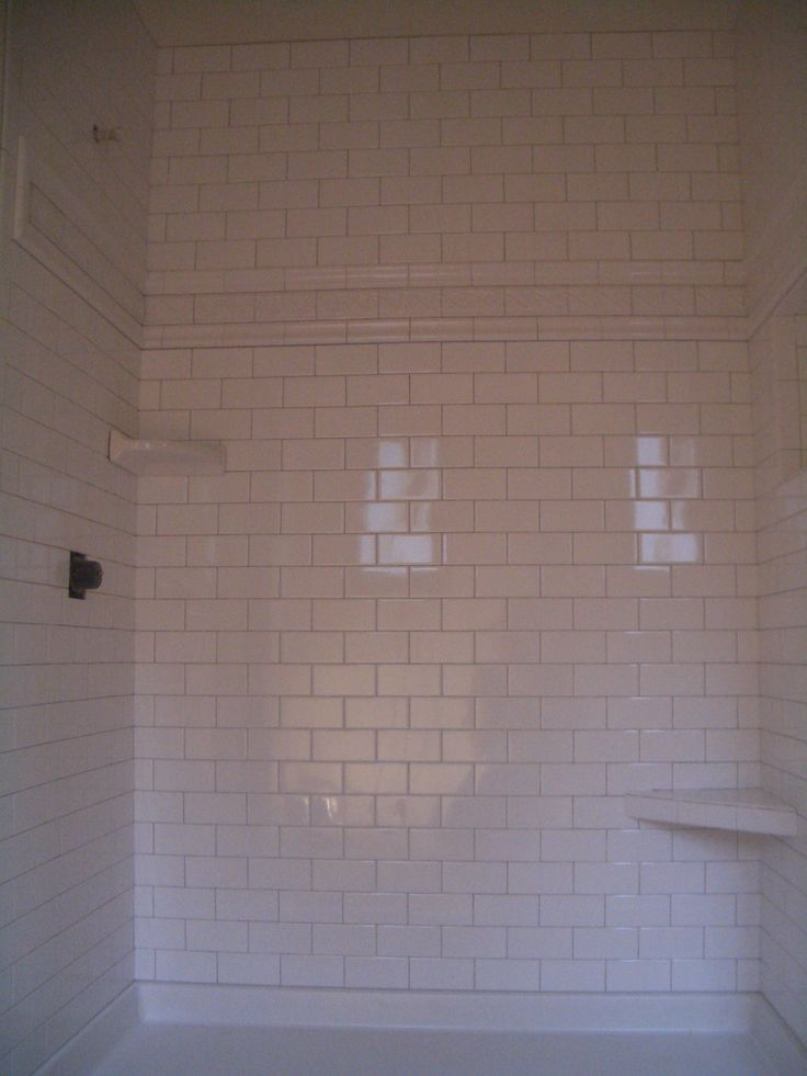 Tiled Shower Recently Finished A Shower With 3 X 6 Inch