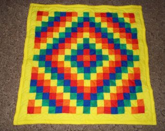 43 best Baby Quilts images on Pinterest   Baby afghans, Baby ... : bright colored quilt patterns - Adamdwight.com