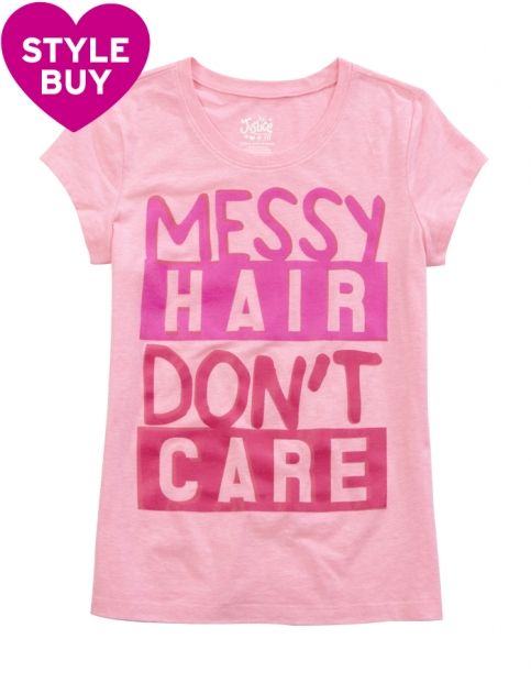 Messy Hair Graphic Tee | Girls Clothes New Arrivals | Shop Justice