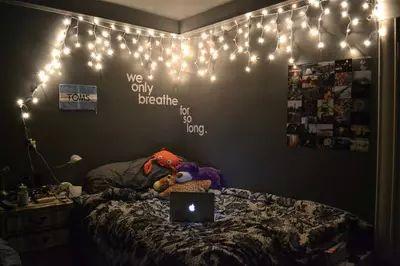 tumblr bedroom decor lights teen